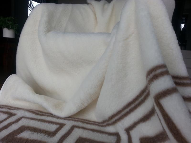 Koc welniany z wełny merynos